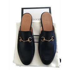 gucci gucci princetown leather mules mules leather black ref 17296