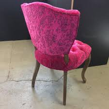 beckett beckett on twitter hot pink velvet upholstered chair another stunning designersguild fabric thats perfect for this dressing room chair