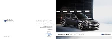 Brochure Subaru Wrx Sti January 2008 Manualzz Com