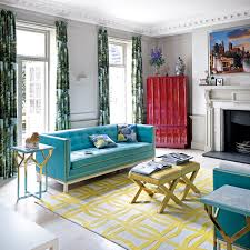 Choose complementary colours. Neutral modern living room ...