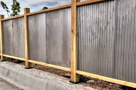 corrugated metal fence elegant fresh corrugated metal fence home design ideas