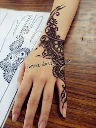 Henna Hand Tattoo Krajkové Tetování Henna Tetování Mandaly
