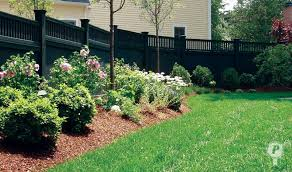 landscaping along fences | ... fence steps along the grade, adding interest  to