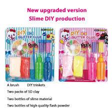 diy crystal slime mud starter kit children toy pottery