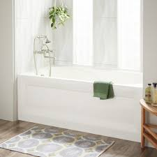 60 cary acrylic alcove tub left biscuit