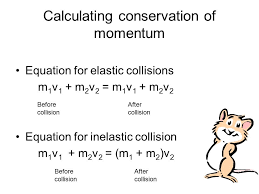 28 calculating conservation of momentum equation for elastic collisions