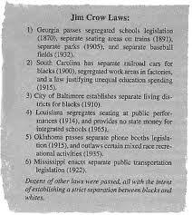 conclusion causes of the civil war through reconstruction jim  conclusion the jim crow laws