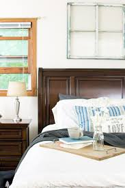 Summer Home Tour Blog Hop The Master Bedroom Dark Wood Bedroom Magnificent Themes For Bedrooms Set Property