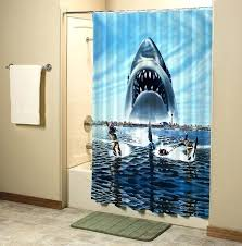 jaws shower curtain jaws shark in beach custom shower curtain high quality bathroom inch giraffe shark jaws shower curtain