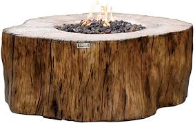 Amazon Com Elementi Manchester Outdoor Firepit Table 42 Inches Rectangular Fire Pit Concrete Patio Heater Electronic Ignition Backyard Fireplace Cover Lava Rock Included Liquid Propane Garden Outdoor