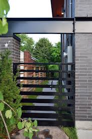 modern metal gate. Modern Metal Gate Designs With Contemporary Landscape Wooden Fence N