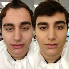 man with makeup insram mugeek vidalondon