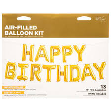 Happy Birthday Balloons Banner Gold Foil Happy Birthday Balloon Banner Kit Hobby Lobby 1295690