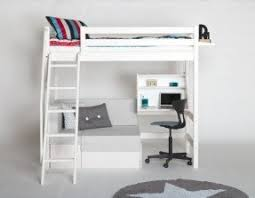 Loft bed with couch and desk
