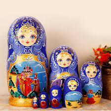 Búp bê Nga Matryoshka bộ 7 con - Nàng tiên cá Ariel   Quatructuyen.com