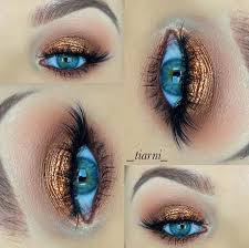 homeing makeup blue eyes