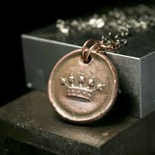 antique heraldic crown of nobility vintage wax seal charm wax seal pendant necklace images