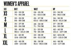 Womens Sizing Measurement Chart Standard Sizes Useful