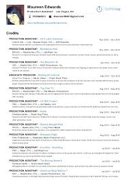 Production Assistant Resume Amazing 9710 Maureen Edwards Production Assistant Resume