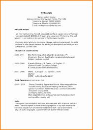 Resume Personal Profile Awesome Sample Resume Profile Custom
