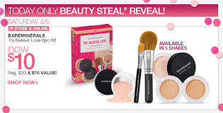 saay 4 5 beauty steal bareminerals try believe love 6pc kit now 10