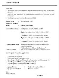 Sample Graduate Student Resume Template
