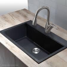 kraus 31 inch dual mount single bowl granite kitchen sink w topmount and undermount installation