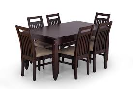 wood dining table set new at awesome wooden 6 seater made from with comfort pillow