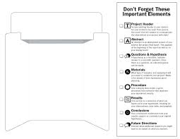 11x17 Trifold Template Button Display Board Template Science Fair Project Boards 11
