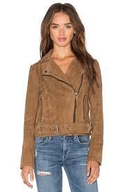 muubaa warren belted biker jacket ash brown women jackets coats