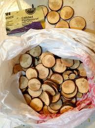 diy wood slice mirror wood slices