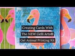 Creating Cards With The NEW Gelli <b>Arts</b>® Gel <b>Animals Printing</b> Kit ...