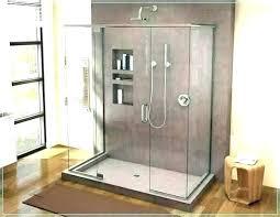 basement shower stall drain installation floor pans bases standard base pan custom