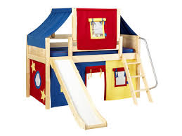 loft with slide. also available with a space saving straight ladder. ladder and slide are reversible. get loft
