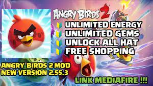 🔰 ANGRY BIRDS 2 MOD 2021 NEW UPDATE || UNLIMITED MONEY, UNLIMITED GEMS,  FREE SHOPPING, - YouTube