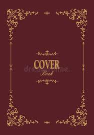 book cover with retro ornamental gold frame stock vector ilration of retro