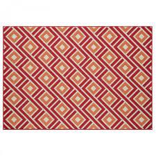 vitaminic greca red geometric rug by floorita 3