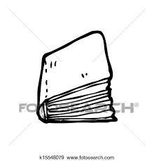 cartoon closed book