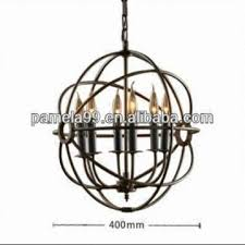 china vintage rh restoration foucaults iron orb chandelier rustic iron candle chandeliers