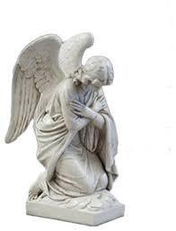 kneeling angel arms crossed garden
