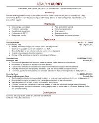 Security Guard Resume Objective Security Guard Resume Example Security Guard Resume Sample 69