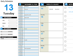 Daily Work Schedule Template Business Mentor