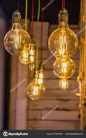 Lampen In Den Seilen Moderne Kronleuchter Stockfoto