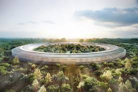 new apple office cupertino new apple campus drone footage shows the cupertino spaceship is coming along apple office