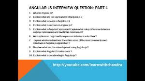 Top 20 Interview Questions Top 20 Angularjs Interview Questions