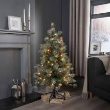 Good Looking B Q Pre Lit Christmas Trees Strikingly 4ft Fairview Decorated  Tree Departments