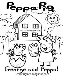 Small Picture Peppa Pig Easter Egg Animated Coloring Page Alric Coloring Pages