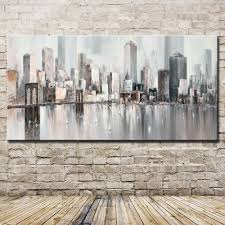 Mintura <b>New York Skyline Cityscape</b> Architecture Abstract Wall Art ...