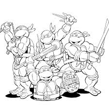 ninja turtles coloring pages for kids enjoy coloring