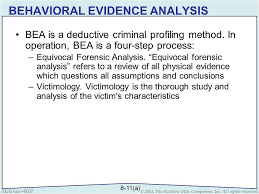 investigative resources ppt  15 behavioral evidence analysis bea is a deductive criminal profiling